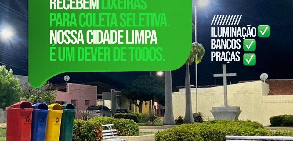 INSTALAÇÃO DE LIXEIRAS EM LOCAIS PÚBLICOS DO NOSSO MUNICÍPIO, MAIS CUIDADO COM O QUE É DO POVO
